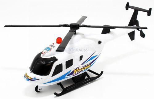Műanyag felhúzós helikopter - 22 cm