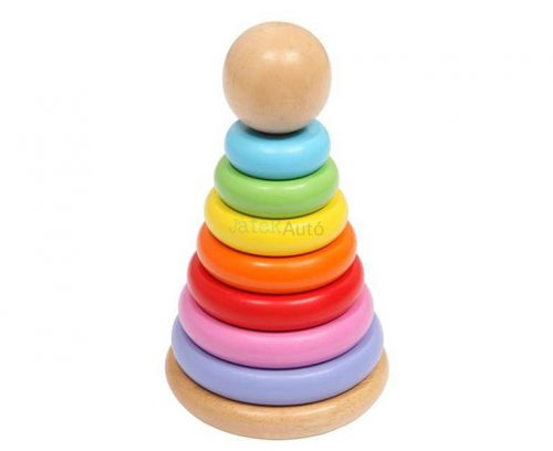 Montessori torony fajáték készlet