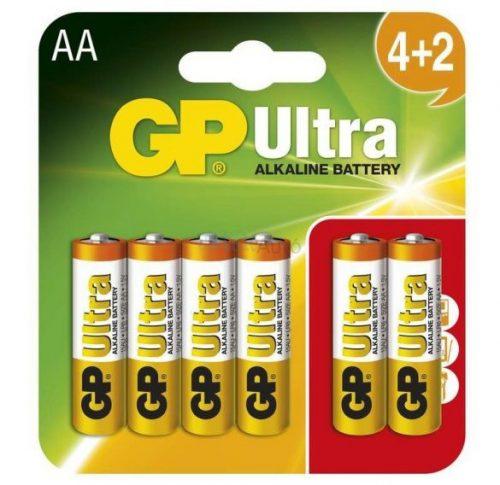GP Ultra AA ceruzaelem 4+2 darabos kiszerelés