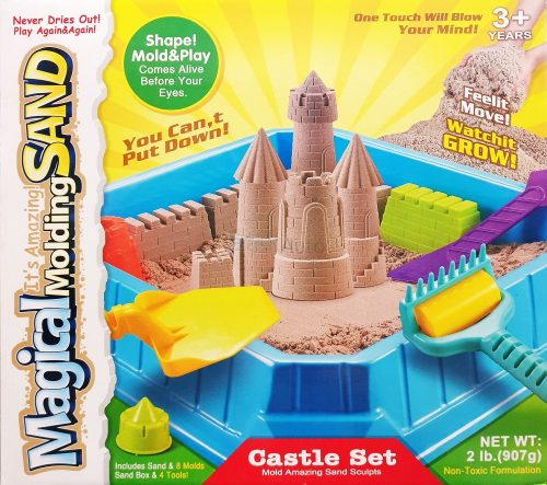 Kinetikus homok gyurma kastély építő készlet