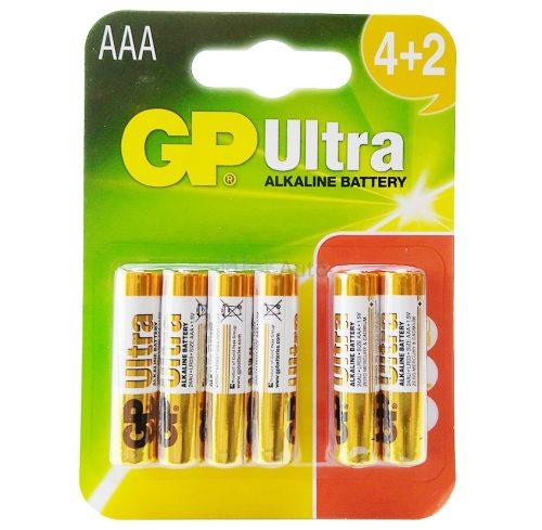 GP Ultra AAA mikro ceruzaelem 4+2 darabos kiszerelés