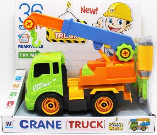 Szerelhető darus teherautó - 22 cm
