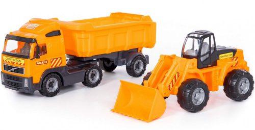 Polesie Volvo billencs kamion és markoló dobozban (36872) 59 cm