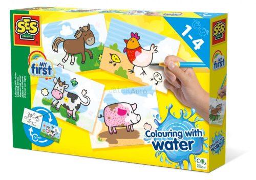 SES Creative - Első vizes farm állatos színezőm 14455
