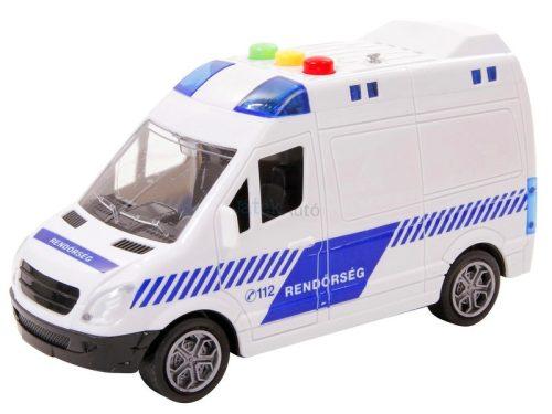 Magyar rendőrautó fénnyel és hanggal