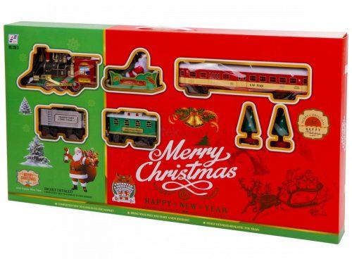 Karácsonyi játékvonat készlet gőzmozdonnyal