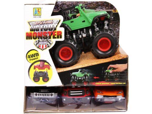 BigFoot Monster lendkerekes terepjáró több külsővel - 11 cm