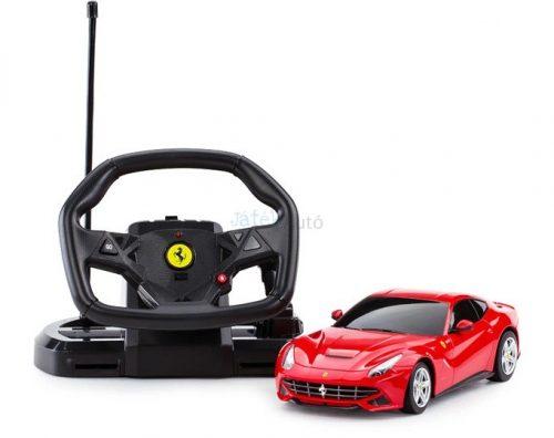 Rastar RC Ferrari F12 Berlinetta 1:18 távirányítós autó kormánnyal 53500-10