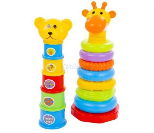Fun Time - Toronyépítő és Montessori torony készlet