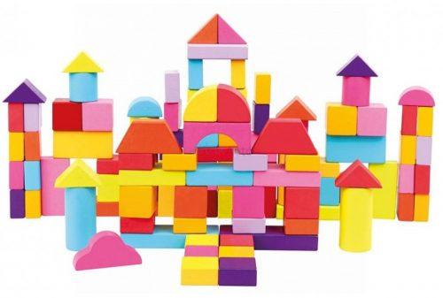 Bino toronyépítő fajáték 100 darabos