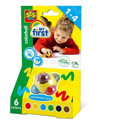 SES Creative - Színező gömb zsírkréta 00242
