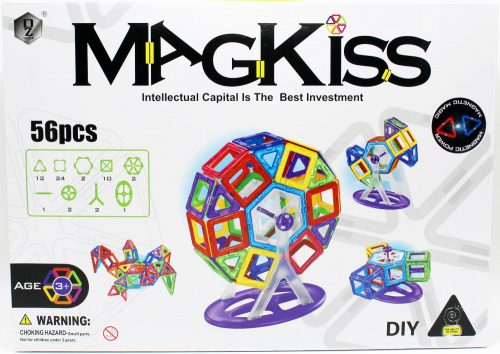 Magkiss 56 darabos mágneses építőjáték