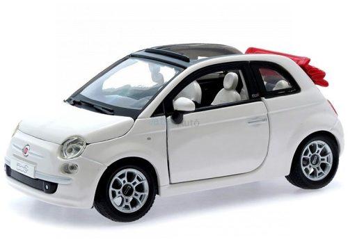 Bburago 1:24 Fiat 500C (2009) Cabriolet személyautó 18-22117