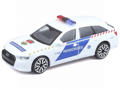 Bburago 1:43 Audi A6 Avant magyar rendőrautó 18-30415