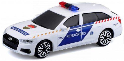 Bburago 1:43 szirénázó/villogó Audi A6 Avant magyar rendőrautó 18-31053