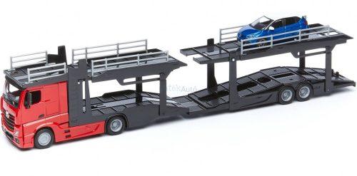 Bburago 1:43 Mercedes-Benz Actros autószállító kamion 18-31456