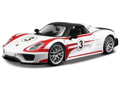 Bburago 1:24 Porsche 918 Spyder versenyautó 18-28009