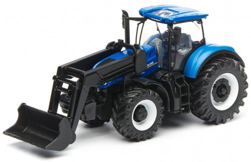 Bburago 1:50 New Holland T7.315 traktor homlokrakodóval 18-31630