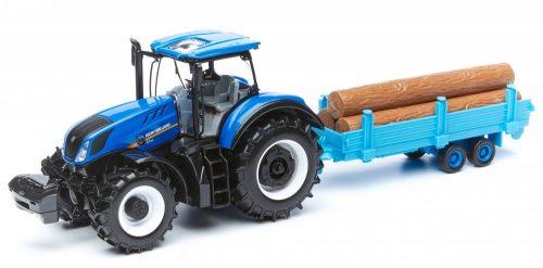 Bburago 1:32 New Holland T7.315 traktor rönkszállítóval 18-44060