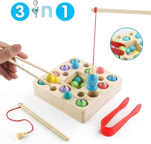 Multifunkciós Montessori fajáték