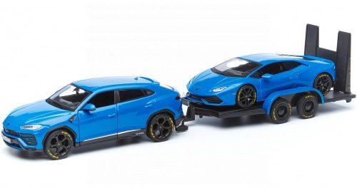 Maisto 1:24 Lamborghini Urus (2018) + Huracan LP640-4 Performante (2017) + utánfutó 32753