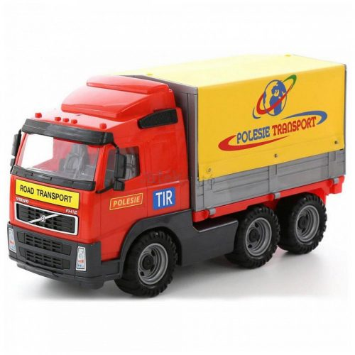 Volvo ponyvás teherautó, dobozban