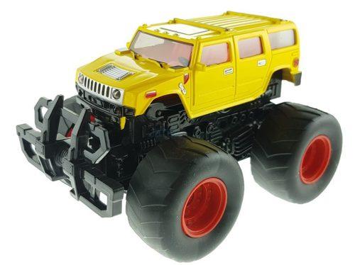 Felugró lendkerekes terepjáró - sárga Hummer