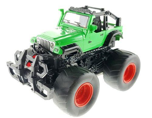 Felugró lendkerekes terepjáró - zöld Jeep