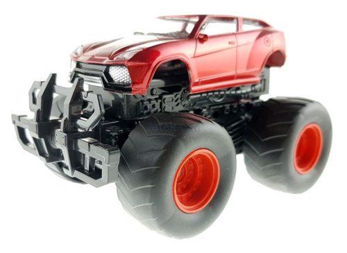 Felugró lendkerekes terepjáró - piros sportautó