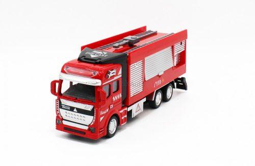 Hátrahúzós tűzoltó autó vízágyúval - 19 cm