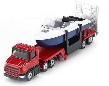 Siku kamion motorcsónakot szállító trélerrel - 1613