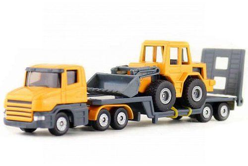 Siku kamion markolót szállító trélerrel - 1616