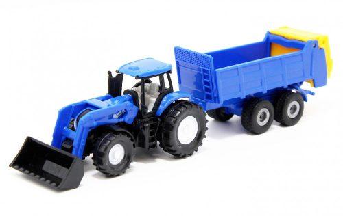 Siku 1:87 New Holland traktor utánfutóval - 1630