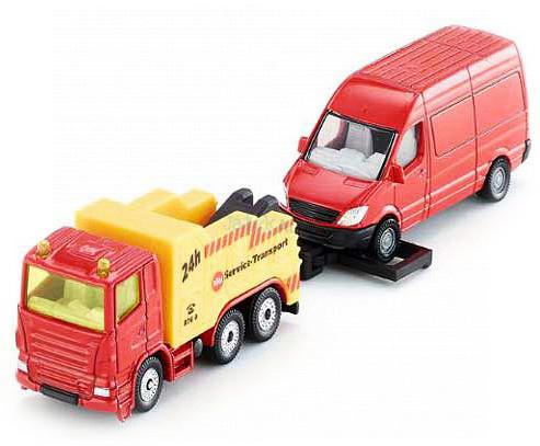 Siku vontató kamion furgonnal - 1667