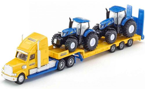 Siku 1:87 kamion trélerrel, New Holland traktorokkal - 1805