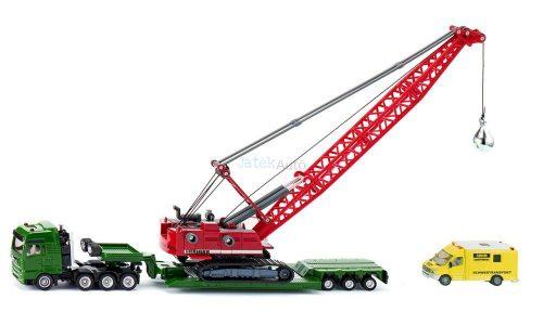 Siku 1:87 MAN teher szállító kamion Liebherr daruval és kísérő járművel - 1834