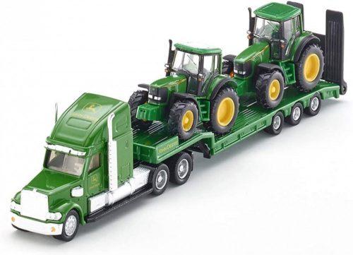 Siku Farmer 1:87 kamion trélerrel, John Deere traktorokkal - 1837