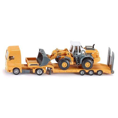 Siku 1:87 MAN TGA kamion trélerrel és Liebherr homlokrakodóval - 1839