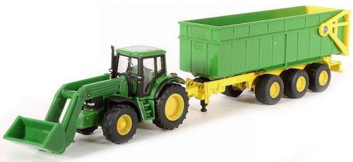Siku Farmer 1:87 John Deere traktor utánfutóval - 1843