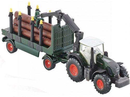 Siku 1:87 Fendt 739 traktor rönkszállító utánfutóval - 1861