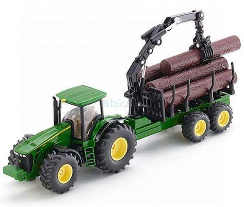 Siku Farmer 1:50 John Deere 8430 traktor rönkszállító utánfutóval - 1954