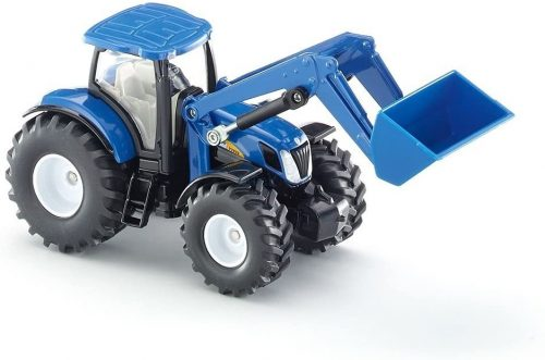 Siku 1:50 New Holland T7070 traktor homlokrakodóval - 1986