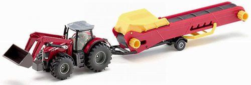 Siku Farmer 1:50 Massey Ferguson traktor futószalaggal - 1996