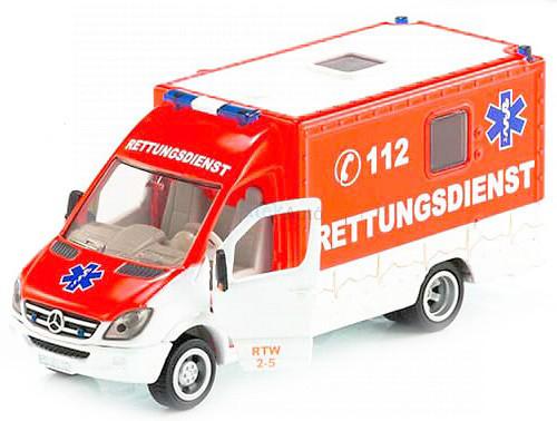 Siku 1:50 Mercedes mentőautó - 2108 - Értékcsökkent