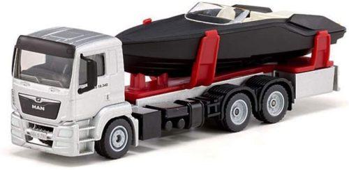 Siku 1:50 MAN motorcsónak szállító kamion - 2715