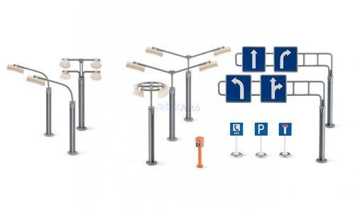 Siku World jelző táblák, utcai lámpák - 5594
