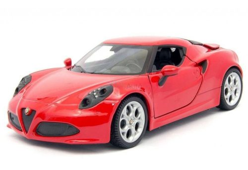 Welly 1:24 Alfa Romeo 4C (2013) sportautó 24048 - Piros